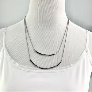 The Limited Double Layer Silver Necklace
